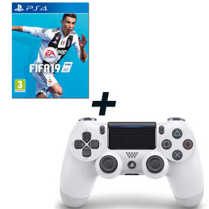 FIFA 19 - PS4 + SONY PS4 Controller Dualshock V2 White - MediaWorld.it