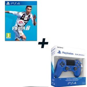 FIFA 19 - PS4 + SONY PS4 Controller Dualshock V2 Wave Blue - MediaWorld.it