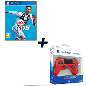 FIFA 19 - PS4 + SONY PS4 Controller Dualshock V2 Magma Red - MediaWorld.it