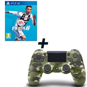 FIFA 19 - PS4 + SONY PS4 Dualshock Controller Green Camouflage - MediaWorld.it