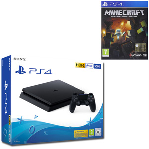 SONY PS4 500GB F Chassis Black + Minecraft - MediaWorld.it