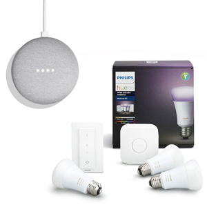 PHILIPS Hue White & Color Starter Kit + GOOGLE HOME MINI - MediaWorld.it