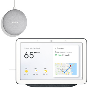 GOOGLE Nest Hub Carbon + GOOGLE HOME MINI Bianco - MediaWorld.it