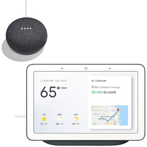 GOOGLE Nest Hub Carbon + GOOGLE HOME MINI Grigio Antracite - MediaWorld.it