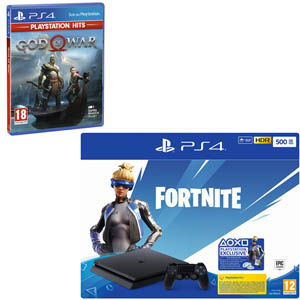 SONY PS4 500 GB + Fortnite VCH(19) + God of War Hits - MediaWorld.it