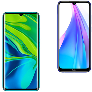 XIAOMI Mi Note 10 Pro 256GB Green + XIAOMI Redmi Note 8T 64GB Starscape Blue - MediaWorld.it
