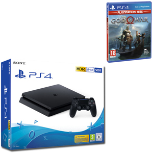 SONY PS4 500GB F Chassis Black + God of War Hits - PS4 - MediaWorld.it