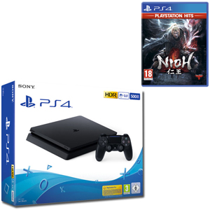 SONY PS4 500GB F Chassis Black + Nioh HITS - PS4 - MediaWorld.it