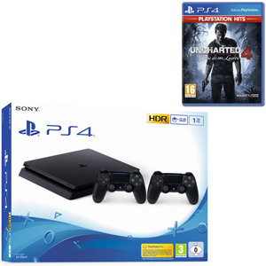 SONY PS4 1TB F + 2 Dualshock 4 Wireless Controller + Uncharted 4 - Fine di un Ladro (PS Hits) - PS4 - MediaWorld.it