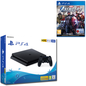SONY PS4 500GB F Chassis Black + Marvel's Avengers - PS4 - MediaWorld.it