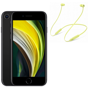 APPLE iPhone SE 128GB Nero + BEATS BY DR.DRE Beats Flex - Giallo limone - MediaWorld.it