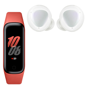 SAMSUNG GALAXY BUDS+ White + SAMSUNG Galaxy FIT2 Red - MediaWorld.it