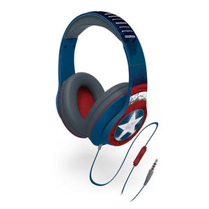 IT-WHY CAPITAN AMERICA HEADPHONES WITH IN LINE MICROPHONE - MediaWorld.it
