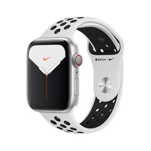 APPLE Watch Nike Series 5 GPS+Cellular 44mm in alluminio color argento  - Nike Sport Platino/Nero - MediaWorld.it