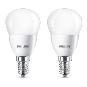 PHILIPS LED  SFERA 40W E14 2700K NON DIM BLISTER DOPPIO - MediaWorld.it