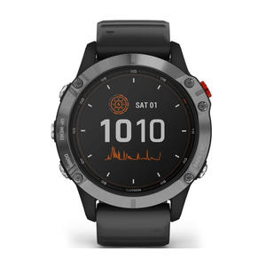GARMIN Fenix 6 Solar - Silver con cinturino black - MediaWorld.it