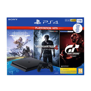 SONY PS4 1TB + Horizon Zero Dawn + Uncharted 4: A Thiefs End + GT Sport - MediaWorld.it