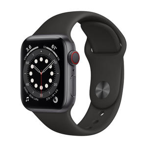 APPLE Watch Series 6 GPS+Cellular 40mm in alluminio grigio siderale - Sport Nero - MediaWorld.it