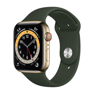 APPLE Watch Series 6 GPS+Cellular 44mm in acciaio oro - Sport Verde inverness - MediaWorld.it