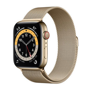 APPLE Watch Series 6 GPS+Cellular 44mm in acciaio oro - Loop Maglia Milanese - MediaWorld.it