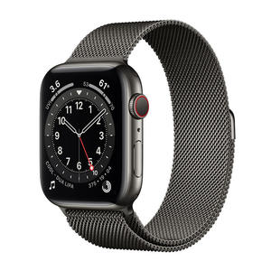 APPLE Watch Series 6 GPS+Cellular 44mm in acciaio grafite - Loop Maglia Milanese - MediaWorld.it
