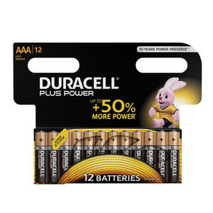 DURACELL Batteria Plus Power B12 Ministilo AAA 12pz - MediaWorld.it