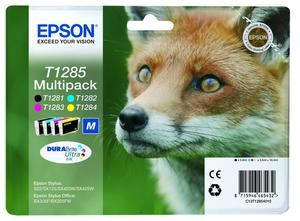 EPSON serie T128 volpe T1285 multipack 4 colori cartucce di inchiosto originale - MediaWorld.it