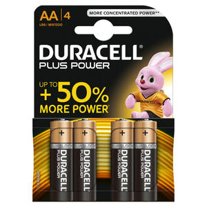 DURACELL Batteria Plus Power B4 Stilo AA 4pz - MediaWorld.it