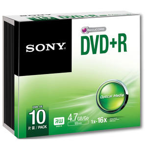 SONY DVD+R 4.7 16X 10PZ - MediaWorld.it
