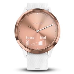 GARMIN Vivomove HR Sport, Rose Gold con cinturino in silicone bianco - MediaWorld.it
