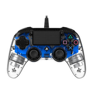 Nacon Controller per PS4 con cavo Trasparente Blu - MediaWorld.it