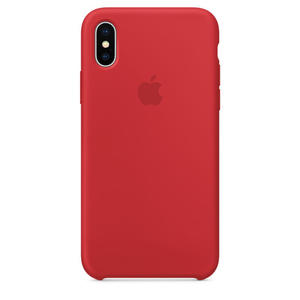 APPLE Custodia in silicone per iPhone X - (PRODUCT)RED