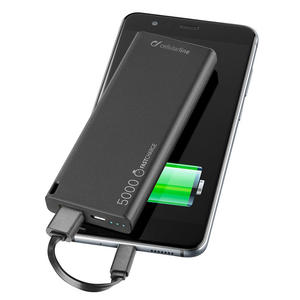 CELLULAR Line Power Bank 5000 mAh Black - MediaWorld.it