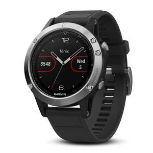 GARMIN Fenix 5 Black/Silver 47mm - MediaWorld.it