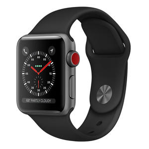 APPLE Watch Series 3 GPS+Cellular 38 mm alluminio color Grigio Siderale  - Cinturino Sport Nero - MediaWorld.it