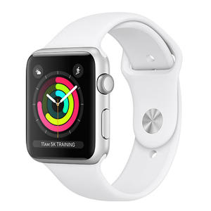 APPLE Watch Series 3 GPS 38 mm alluminio color Argento - Cinturino Sport Bianco - MediaWorld.it
