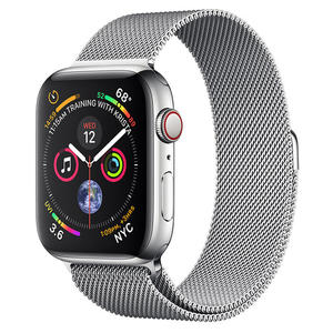 APPLE WATCH Serie 4 Cellular 44mm Acciaio Argento - Loop Maglia Milanese Argento - MediaWorld.it