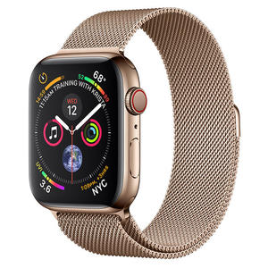 APPLE WATCH Serie 4 Cellular 44mm Acciaio Oro - Loop Maglia Milanese Oro - MediaWorld.it