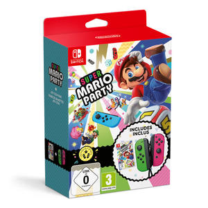 Super Mario Party + 2 Joy-Con verde neon / rosa neon - NSW - MediaWorld.it