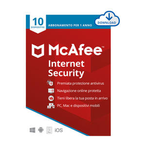MCAFEE Internet Security 10 Dispositivi - ESD - MediaWorld.it