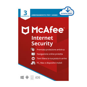 MCAFEE Internet Security 3 Dispositivi - ESD - MediaWorld.it
