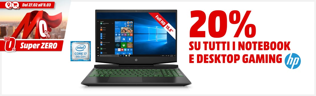 PC GAMING HP SCONTO 20%