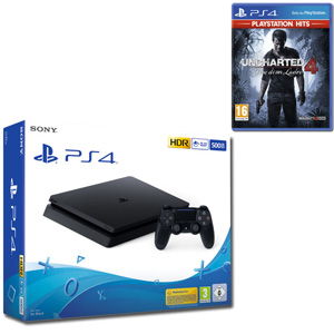 SONY PS4 500GB F Chassis Black + Uncharted 4 - Fine di un Ladro (PS Hits) - PS4 - MediaWorld.it