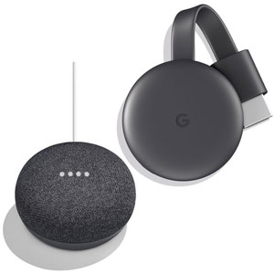 GOOGLE HOME MINI Grigio Antracite + GOOGLE Chromecast - MediaWorld.it