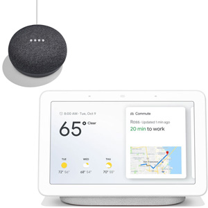 GOOGLE Nest Hub White + GOOGLE HOME MINI Grigio Antracite - MediaWorld.it