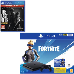 SONY PS4 500 GB + Fortnite VCH(19) + The Last of Us Remastered (PS Hits) - MediaWorld.it