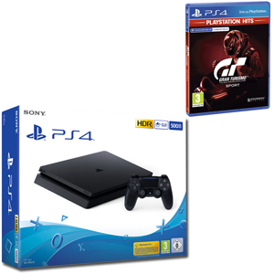 SONY PS4 500GB F Chassis Black + Gran Turismo Sport Hits - PS4 - MediaWorld.it