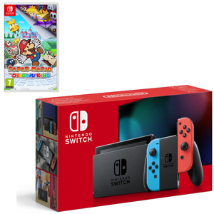 NINTENDO Switch Rosso Neon/Blu Neon + Paper Mario: The Origami King - NSW - MediaWorld.it