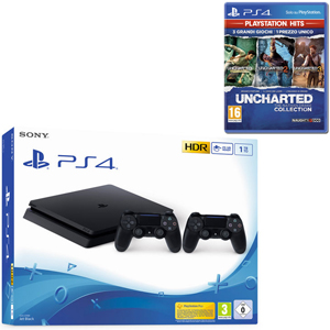 SONY PS4 1TB F + 2 Dualshock 4 Wireless Controller + UNCHARTED The Nathan Drake Collection - PS4 - MediaWorld.it