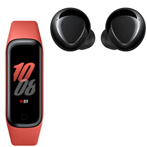 SAMSUNG GALAXY BUDS+ Black + SAMSUNG Galaxy FIT2 Red - MediaWorld.it
